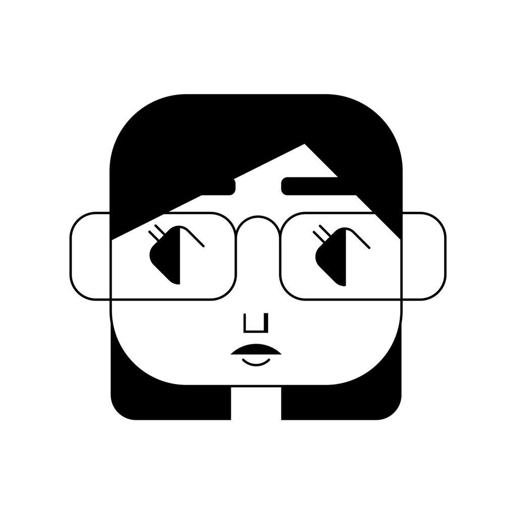 Poster Designer Self-Portrait Illustration