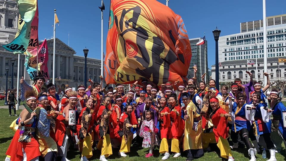 Kanzami Yosakoi Dance Coalition at the 2019 Grand Parade at Civic Center Plaza