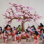 Washi Ningyo, Paper Dolls, Cherry Blossom Celebration, Rochelle Lum